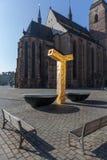 Πίλζεν, Τσεχία - 02/21/2018: Σύγχρονη πηγή στη Δημοκρατία Στοκ φωτογραφία με δικαίωμα ελεύθερης χρήσης