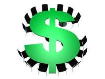 Πίνακας αίθουσας συνδιαλέξεων με μορφή του δολαρίου Στοκ φωτογραφίες με δικαίωμα ελεύθερης χρήσης