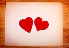 Πίνακας ανακοινώσεων με τη μορφή καρδιών Στοκ Φωτογραφίες