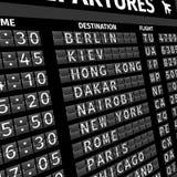 Πίνακας αναχώρησης αερολιμένων στην προοπτική ελεύθερη απεικόνιση δικαιώματος