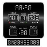 Πίνακας βαθμολογίας καλαθοσφαίρισης Στοκ φωτογραφία με δικαίωμα ελεύθερης χρήσης