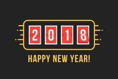 πίνακας βαθμολογίας του 2018 όπως καλή χρονιά ελεύθερη απεικόνιση δικαιώματος