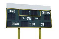 Πίνακας βαθμολογίας αμερικανικού ποδοσφαίρου Στοκ εικόνα με δικαίωμα ελεύθερης χρήσης