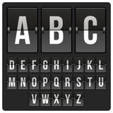 Πίνακας βαθμολογίας με το αλφάβητο Στοκ Εικόνες