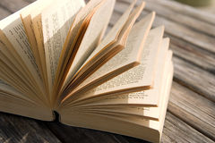πίνακας βιβλίων ξύλινος Στοκ Φωτογραφίες