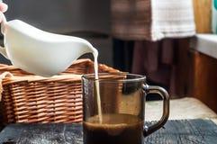 πίνακας γάλακτος καφέ Στοκ εικόνα με δικαίωμα ελεύθερης χρήσης
