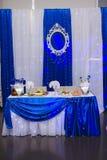 Πίνακας γαμήλιου συμποσίου Στοκ φωτογραφία με δικαίωμα ελεύθερης χρήσης