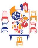 Πίνακας γευμάτων ημέρας των ευχαριστιών Στοκ εικόνες με δικαίωμα ελεύθερης χρήσης