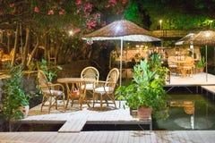 Πίνακας γευμάτων νύχτας στο εστιατόριο Τουρκία ποταμών Στοκ Εικόνες