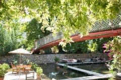 Πίνακας γευμάτων στο εστιατόριο Τουρκία ποταμών Στοκ φωτογραφία με δικαίωμα ελεύθερης χρήσης