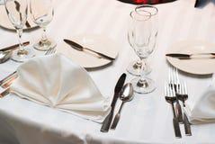 πίνακας γευμάτων Στοκ φωτογραφίες με δικαίωμα ελεύθερης χρήσης