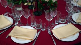 Πίνακας για ένα κόμμα ή μια δεξίωση γάμου απόθεμα βίντεο