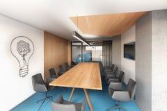 Πίνακας για τις διαπραγματεύσεις στο γραφείο Στοκ φωτογραφία με δικαίωμα ελεύθερης χρήσης