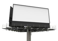 Πίνακας διαφημίσεων στο λευκό Στοκ φωτογραφία με δικαίωμα ελεύθερης χρήσης