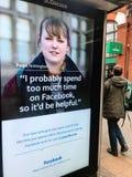 Πίνακας διαφημίσεων Facebook στοκ φωτογραφία με δικαίωμα ελεύθερης χρήσης
