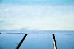 Πίνακας εκτός από το υπόβαθρο θάλασσας Στοκ Εικόνες