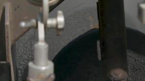 Πίνακας ελέγχου για την άσφαλτο που βάζει τη μηχανή απόθεμα βίντεο