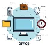 Πίνακας ελέγχου χαρτοφυλάκων φακέλλων ρολογιών οργάνων ελέγχου υπολογιστών γραφείων ελεύθερη απεικόνιση δικαιώματος