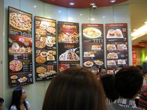 Πίνακας επιλογών εστιατορίων του Γκρήνουιτς των ιταλικών και αμερικανικών τροφίμων στοκ φωτογραφία με δικαίωμα ελεύθερης χρήσης