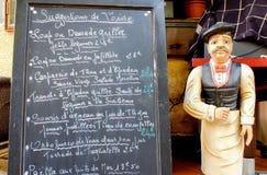 Πίνακας επιλογών με το σερβιτόρο Στοκ φωτογραφία με δικαίωμα ελεύθερης χρήσης