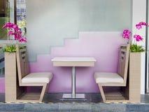 πίνακας εστιατορίων εδρώ&nu Στοκ Εικόνες