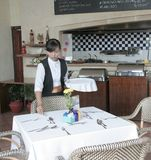 πίνακας εστιατορίων τρόπο& Στοκ Φωτογραφίες