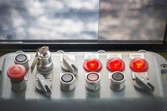 Πίνακας ελέγχου γερανών βάθρων Στοκ Φωτογραφίες