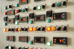 Πίνακας ελέγχου εργοστασίων βιομηχανίας Στοκ Εικόνα