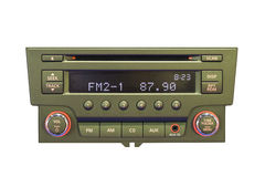 Πίνακας ελέγχου ραδιοφώνων αυτοκινήτου στοκ φωτογραφία με δικαίωμα ελεύθερης χρήσης