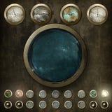 Πίνακας ελέγχου Steampunk v2 Στοκ φωτογραφία με δικαίωμα ελεύθερης χρήσης