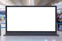 πίνακας διαφημίσεων ή αφίσα διαφήμισης στον αερολιμένα για τη διαφήμιση στοκ εικόνα με δικαίωμα ελεύθερης χρήσης