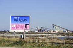 Πίνακας διαφημίσεων αλατούχο aigues-Mortes Στοκ φωτογραφίες με δικαίωμα ελεύθερης χρήσης