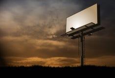 Πίνακας διαφημίσεων ηλιοβασιλέματος Στοκ Φωτογραφία