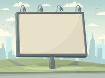 Πίνακας διαφημίσεων με το υπόβαθρο πόλεων Στοκ Εικόνα