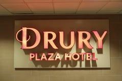 Πίνακας διαφημίσεων ξενοδοχείων Plaza Drury Στοκ Φωτογραφίες