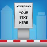Πίνακας διαφημίσεων Lightbox Στοκ εικόνα με δικαίωμα ελεύθερης χρήσης