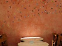 Πίνακας και καρέκλες καφέδων Στοκ εικόνα με δικαίωμα ελεύθερης χρήσης