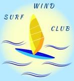 Πίνακας και κύματα Windsurfing απεικόνιση αποθεμάτων