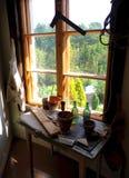 Πίνακας και παράθυρο τεχνών Στοκ Εικόνα