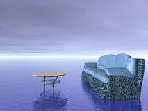 πίνακας καναπέδων επίπλων έννοιας άνεσης διανυσματική απεικόνιση