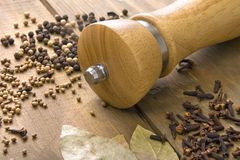 πίνακας καρυκευμάτων ξύλ&io στοκ εικόνα