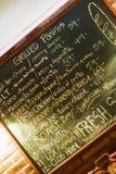 πίνακας κιμωλίας καφέδων Στοκ Φωτογραφίες