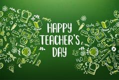 Πίνακας κιμωλίας με την ευτυχή ημέρα δασκάλων Στοκ φωτογραφία με δικαίωμα ελεύθερης χρήσης