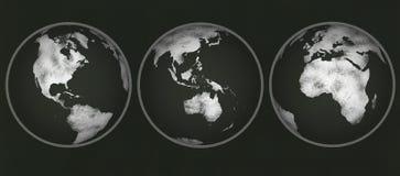 Πίνακας κιμωλίας - σφαίρες κιμωλίας Στοκ Εικόνες