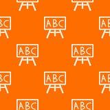Πίνακας κιμωλίας με το σχέδιο leters ABC άνευ ραφής Στοκ φωτογραφίες με δικαίωμα ελεύθερης χρήσης