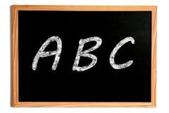 Πίνακας κιμωλίας ABC Στοκ φωτογραφία με δικαίωμα ελεύθερης χρήσης
