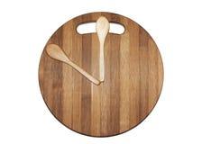 Πίνακας κουζινών και ξύλινα κουτάλια ως ρολόι τοίχων Στοκ Εικόνες