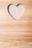 Πίνακας κουζινών με τη μορφή καρδιών ως πλαίσιο συνόρων Στοκ Φωτογραφία