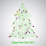 Πίνακας κυκλωμάτων, δέντρο για το νέο έτος Στοκ Φωτογραφίες