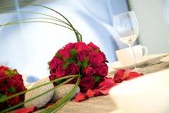 Πίνακας λήψης γαμήλιων γευμάτων Στοκ Εικόνα